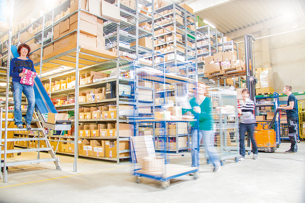 inside warehouse